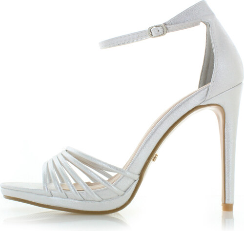 183548f00725 Ideal Strieborné sandále Christelle - Glami.sk
