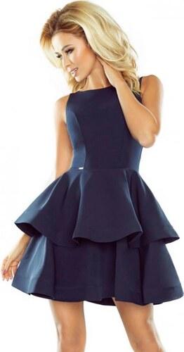 Dámske modré šaty so skladanou sukňou - Glami.sk 9e55891e76a