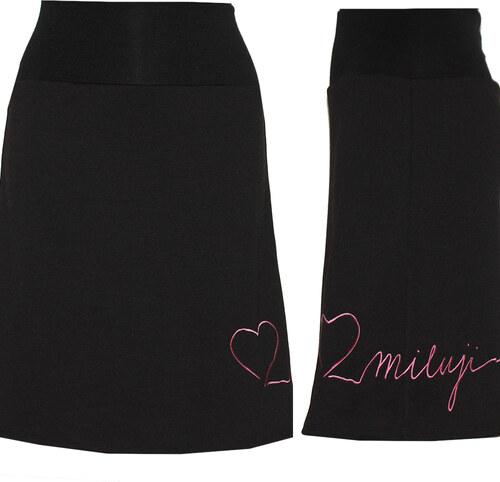 962dc119308 Radka Kudrnová Černá sukně ke kolenům