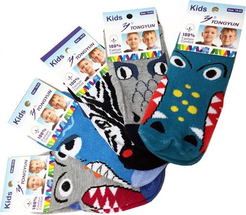 4c92a5a7310 Dětské bavlněné protiskluzové ponožky s krokodýlem 5 párů 31-34 ...