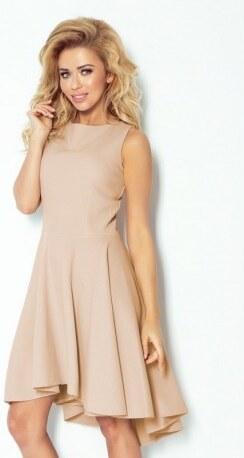 Luxusní dámské společenské a plesové šaty bez rukávu béžové NUMOCO 66-8 e31eb0f6dd
