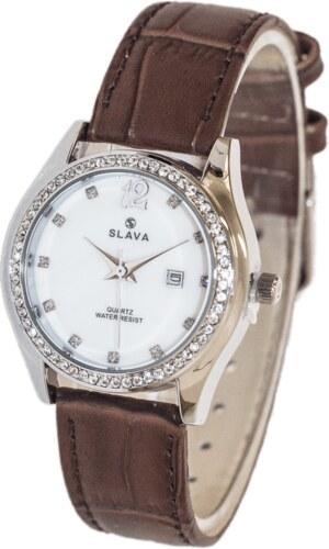 Dámské elegantní hodinky s kamínky kolem ciferníku SLAVA - Glami.cz 4ad57c1af1