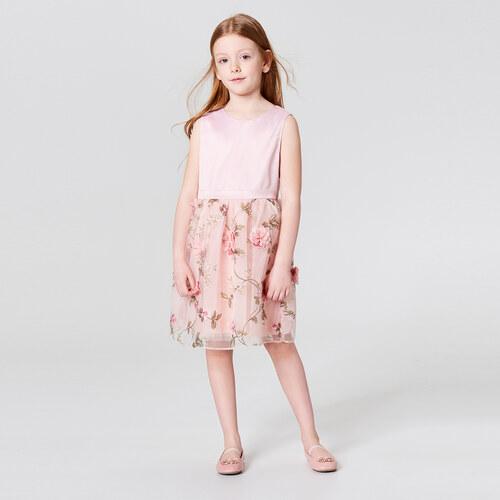 c6be0be41dcd Mohito - Dívčí šaty s tylovou sukénkou little princess - Růžová ...