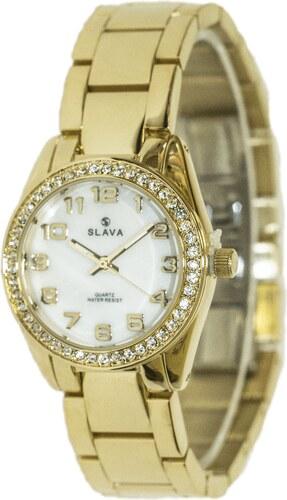 Dámské zlaté ocelové hodinky SLAVA - Glami.cz ae12581ba6