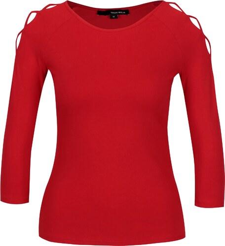 b10e9fd701 Červené tričko s pásikmi na ramenách TALLY WEiJL - Glami.sk
