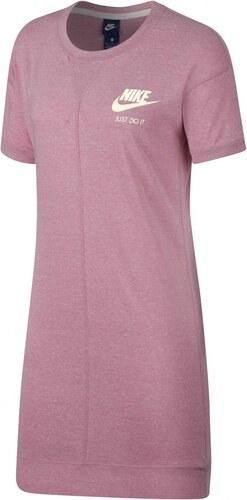 87cb516daab6 Dámské Šaty Nike W NSW GYM VNTG DRESS ELEMENTAL PINK SAIL - Glami.cz