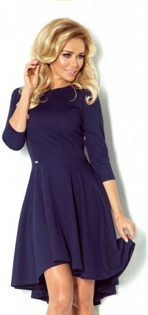 9501b802e72 Luxusní dámské společenské a plesové šaty s 3 4 rukávem tmavě modré NUMOCO  90-1