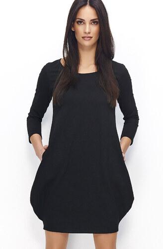 ec9737dd1e5a MAKADAMIA Dámské šaty Tulipán černé - Glami.cz