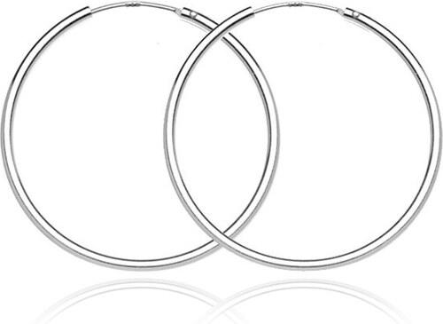 8112043dd Šperky eshop - Strieborné náušnice 925 - tenké, hladké kruhy, 30 mm A9.3