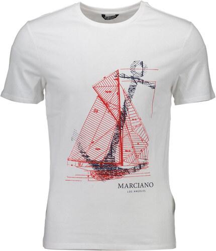 386312e40c12 Guess marciano Pánská trička Man T-shirt Bílá - Glami.cz