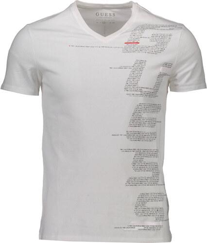 555ea974a087 Guess jeans Pánská trička Man T-shirt Bílá - Glami.cz