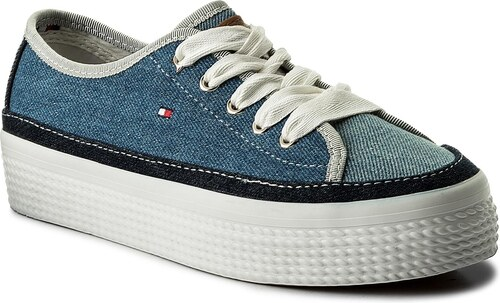 2ce878ab0 Tenisky TOMMY HILFIGER - DENIM Star Flatform Sneaker FW0FW02770 Denim 404
