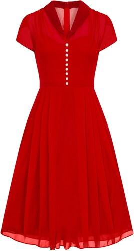 Hell Bunny Dámské retro šaty PAIGE červené - Glami.cz 1836000b6a