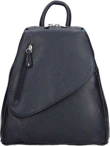 Dámský kožený batoh Hexagona 464783 - tmavě modrá - Glami.cz c6750fcc55