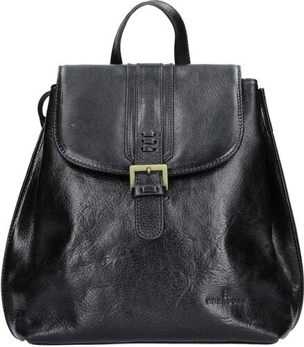 Dámský kožený batoh Hexagona 112194 - černá - Glami.cz 8403fbe44b