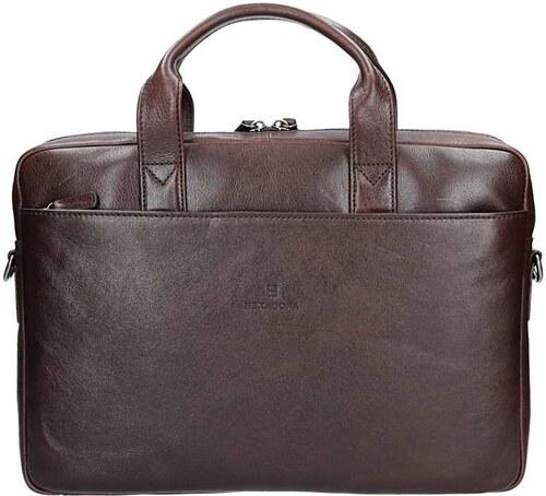 Pánská kožená taška přes rameno Hexagona 129478 - hnědá - Glami.cz 057677f40f0