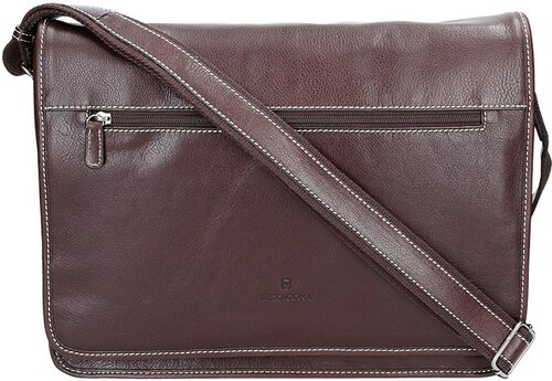 Pánská celokožená taška přes rameno Hexagona 123482 - hnědá - Glami.cz 7cd1251b466