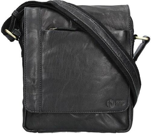 1f2dde0978 Sendi DESIGN Pánská kožená taška přes rameno SendiDesign Apolon - černá