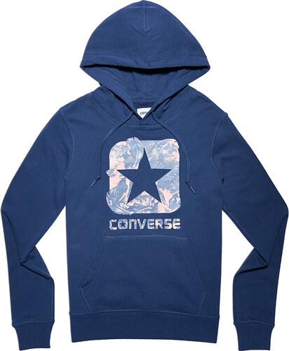 Converse Dámska tmavomodrá mikina Graphic Boxstar Pullover Hoodie ... f8b960c30bf