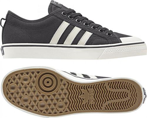 c71e0b87489f3 Pánske tenisky adidas Originals NIZZA (Čierna / Biela) - Glami.sk