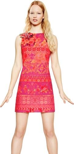 Desigual červeno-ružové šaty Angelina - Glami.sk 5fd31aa52f8