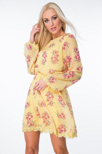 436c0fd400c6 Žlté šaty s kvetmi 6754 - Glami.sk