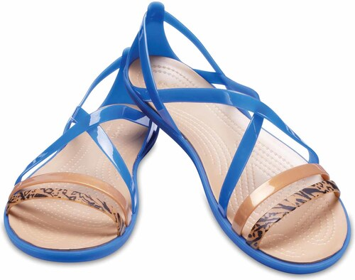 0ff08c7686f3 Crocs modré sandály Isabella Grph Strappy Sandal Blue Jean Gold - W7 ...