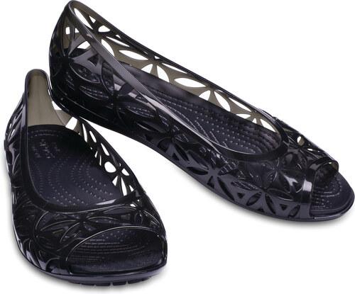 a5b000bc7b9 Crocs černé děrované baleríny Isabella Jelly II Flat Black - W6 ...