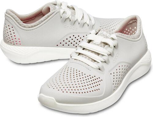 Crocs sivé dámske tenisky Lite Ride Pacer Pearl White - Glami.sk 5047caa43d0