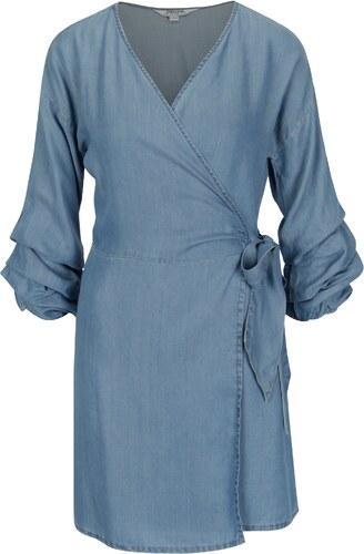 Modré džínové zavinovací šaty Dorothy Perkins - Glami.cz a243fc2abe