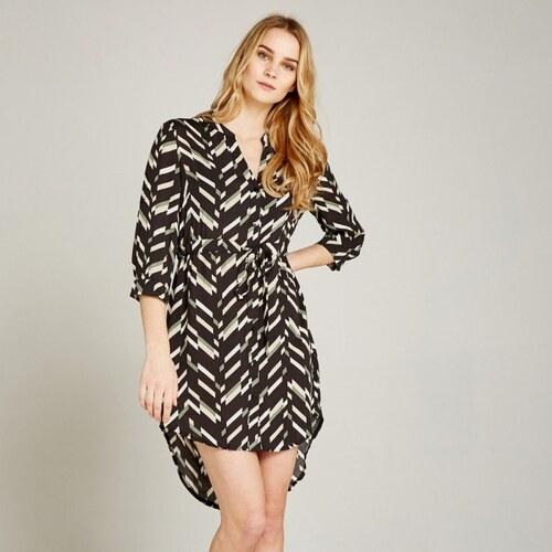 2e7406500fe APRICOT Apricot dámské košilové šaty se vzorem černé