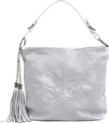 a61c32e65b Biela kožená kabelka so strapcami Isabella Rhea - Glami.sk