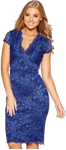 QUIZ Kráľovsky modré krajkové midi šaty - Glami.sk 7c1fdf437b6