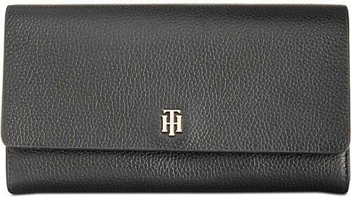 Kožená peněženka a pouzdro na telefon Tommy Hilfiger TH Serif signature  accordion flap 31ec771064