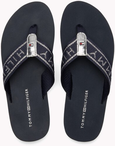 64ce047ddb0 Tommy Hilfiger tmavo modré žabky Flexible Essential Beach Sandal Midnight