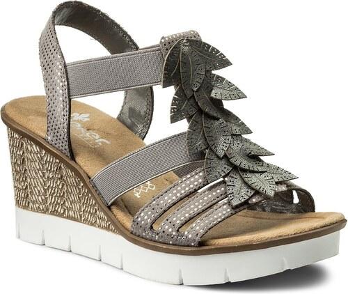 Sandále RIEKER - 65505-42 Grey Combination - Glami.sk d0380ba12f