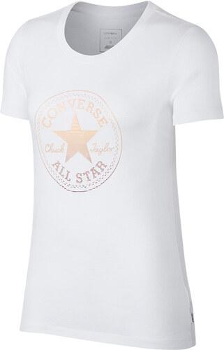 46f886b9bb Converse fehér póló Clear Foil Chuck Patch C Tee - Glami.hu