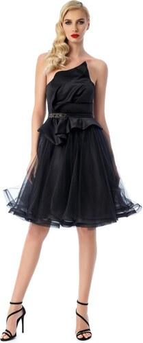 Fekete StarShinerS ruha szivacsos mellrész belső béléssel szatén anyagból  tűll 7ed076d53a
