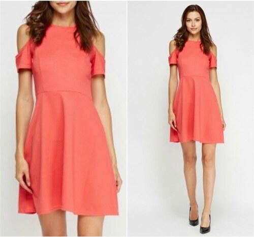 80724d5c79c9 BELLA MODA London Dámské korálové elegantní šaty - Glami.cz
