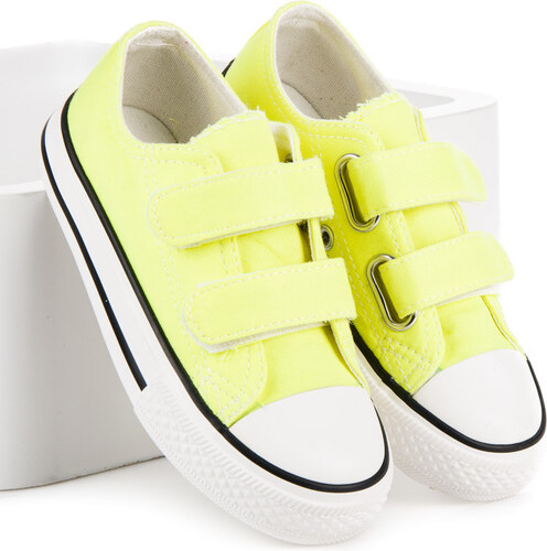 CNB Textilní žluté dětské tenisky na suchý zip - Glami.cz 6dd4214bee