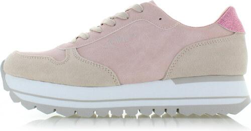 s.Oliver Világos rózsaszín bőr tornacipő 23658 - Glami.hu dfded86b5e