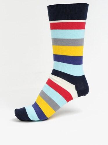 Žluto-modré pánské pruhované ponožky Happy Socks Stripe - Glami.cz aefa5b32d5