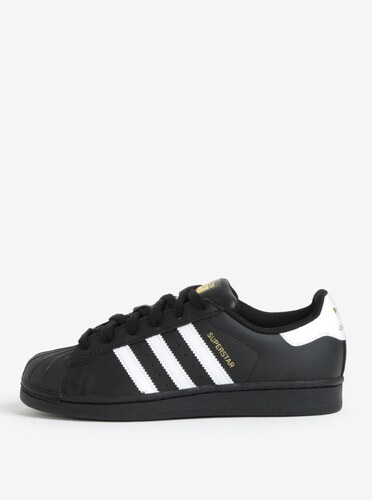 Černé kožené tenisky adidas Originals Superstar - Glami.cz a03303fbf5