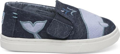 a1ac47506d664 Detské modré TOMS Felt Whale Oceana Tiny Luca Slip-On - Glami.sk