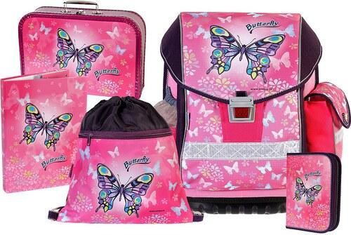 Školní batoh Emipo Ergo Two Butterfly motýl 5 dílný set - Glami.cz 5927efd964
