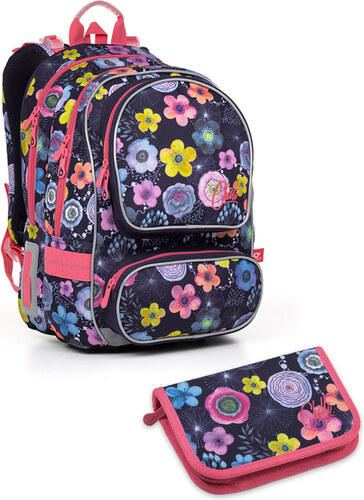 56c638350d3 Školní batoh Topgal květiny 2 dílný set Small ALLY 17005 - Glami.cz