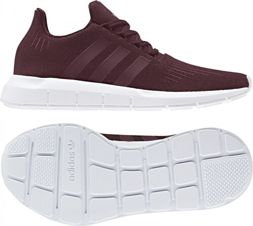 027a9a010898e Dámske tenisky adidas Originals SWIFT RUN W (Červená / Biela) - Glami.sk