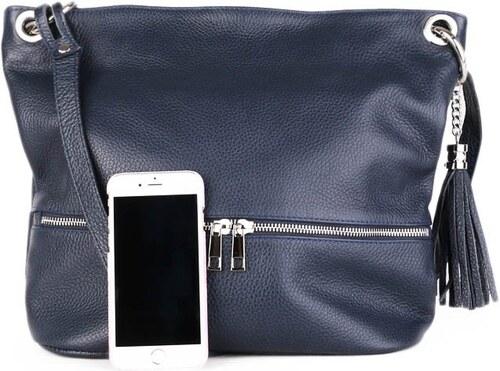 ITALSKÉ Italské modré kožené kabelky crossbody levně Freme 3269f4f7d7