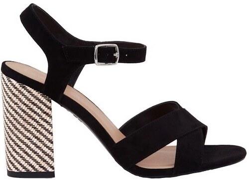 NEW LOOK Čierne sandále s ozdobným podpätkom - Glami.sk d4a7e45c30