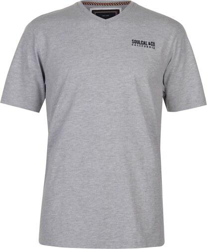 58a1f3c6c46d Tričko s krátkým rukávem SoulCal Small Logo V Neck T Shirt Mens ...